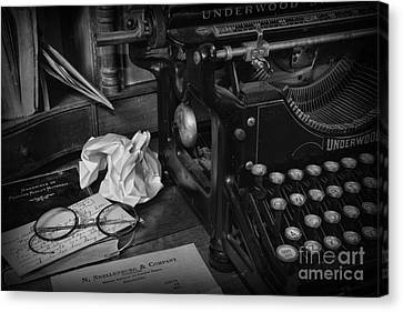 The Frustrated Writer Canvas Print by Paul Ward