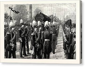 The Funeral Of The Late Count Moltke The Procession Canvas Print by German School