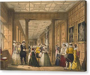 The Gallery At Hatfield House Canvas Print by Joseph Nash