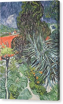The Garden Of Doctor Gachet At Auvers-sur-oise Canvas Print by Vincent van Gogh