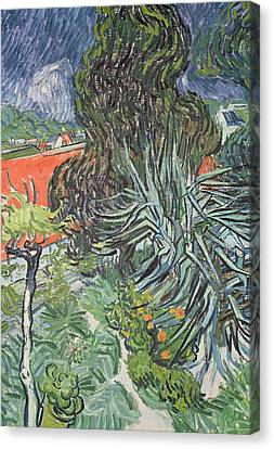 The Garden Of Doctor Gachet At Auvers-sur-oise Canvas Print by Vincent van Gogh