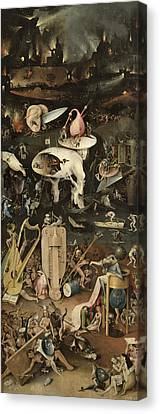 The Garden Of Earthly Delights, C.1500 Oil On Panel Detail Of 3425 Canvas Print by Hieronymus Bosch