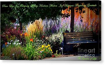 The Garden Of Life Canvas Print by Bobbee Rickard