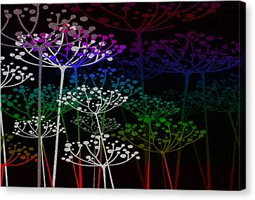 The Garden Of Your Mind Rainbow 2 Canvas Print by Angelina Vick