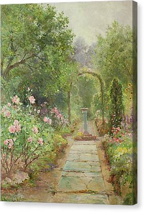 The Garden Path Canvas Print by Ernest Walbourn