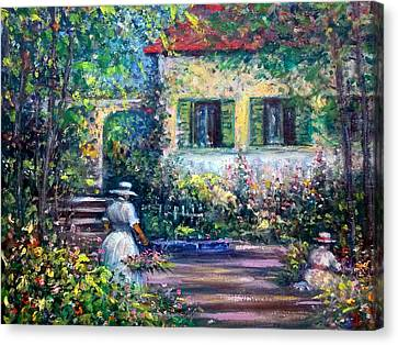 The Garden Canvas Print by Philip Corley