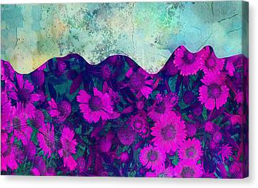 The Garden Wall Abstract Art Canvas Print by Ann Powell