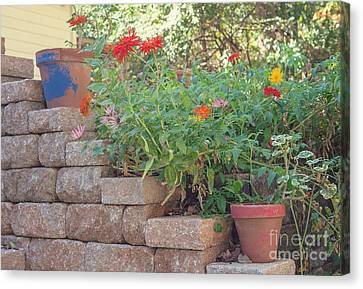 The Garden Wall Canvas Print by Kay Pickens