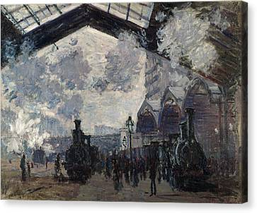 The Gare St-lazare Canvas Print by Claude Monet