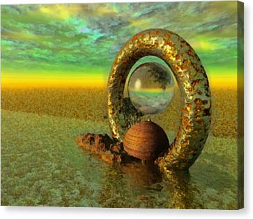 The Gate Of Reflections Canvas Print by Mario Carini