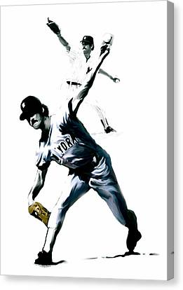 The Gator  Ron Guidry  Canvas Print by Iconic Images Art Gallery David Pucciarelli