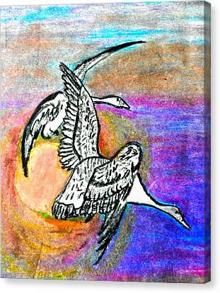 The Geese Canvas Print by Jo-Ann Hayden