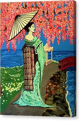The Geisha Canvas Print by Victoria Rhodehouse