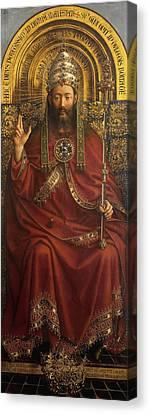 The Ghent Altarpiece Open  Canvas Print by Jan Van Eyck