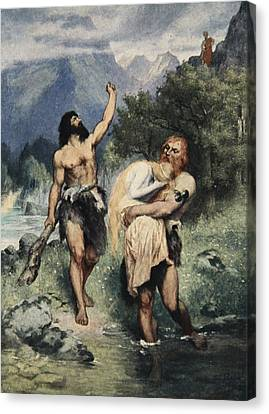 The Giants Bore Freia Away, From The Canvas Print by Ferdinand Leeke