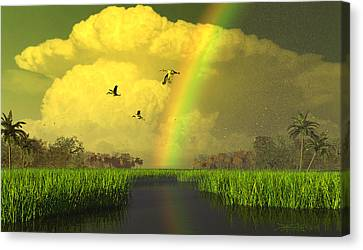 The Gift Of Light Canvas Print by Dieter Carlton