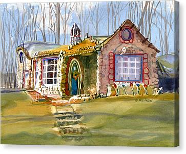 The Gingerbread House Canvas Print by Kris Parins
