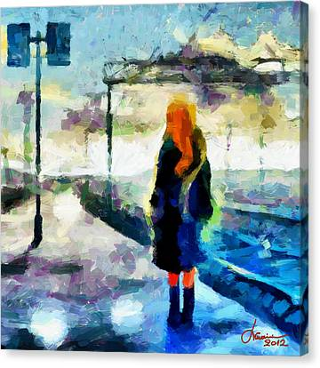The Girl From The Dream Tnm Canvas Print by Vincent DiNovici