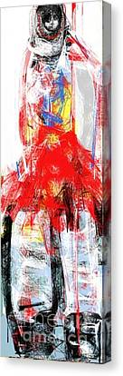 The Girl With Big Attitude Canvas Print by Ruth Clotworthy