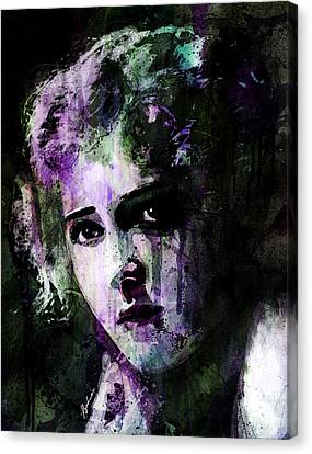 The Girl With The Curls Canvas Print by Gary Bodnar
