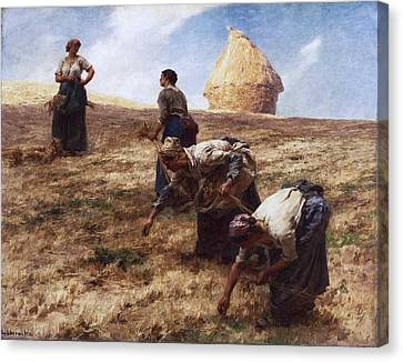 The Gleaners Canvas Print by Leon-Augustin Lhermitte