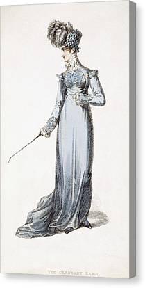 The Glengary Habit, Fashion Plate Canvas Print by English School