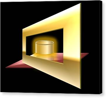 The Golden Can Canvas Print by Cyril Maza