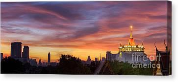 The Golden Mount Canvas Print by Anek Suwannaphoom