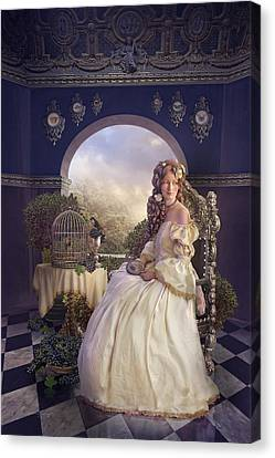 The Golden Room Canvas Print by Cassiopeia Art