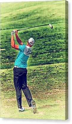 The Golf Swing Canvas Print by Karol Livote