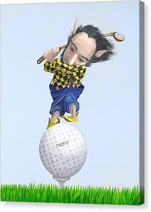 The Golfer Canvas Print by Leonard Filgate