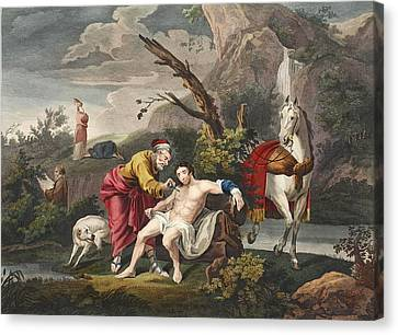 The Good Samaritan, Illustration Canvas Print by William Hogarth