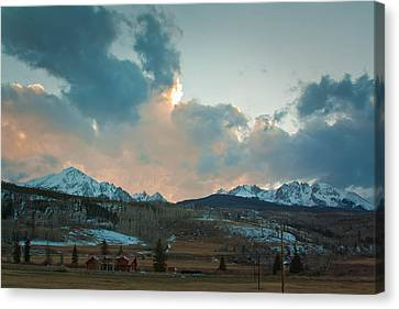 The Gore Range Canvas Print by Greg Sagan