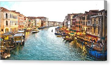 The Grand Canal Of Venice Canvas Print by Gianfranco Weiss