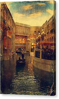 The Grand Canal Shoppes Canvas Print by Maria Angelica Maira