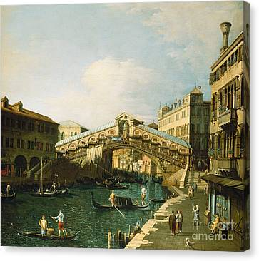 The Grand Canal   Venice Canvas Print by Canaletto