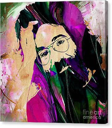 The Grateful Dead Jerry Garcia Canvas Print by Marvin Blaine