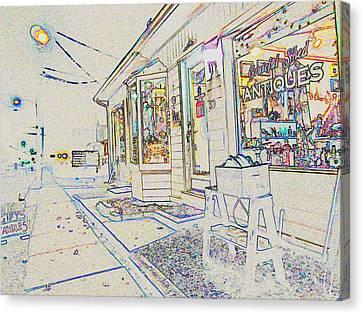 The Grateful Shed - Antique Store Canvas Print by Susan Carella