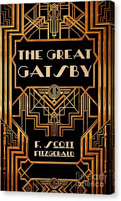 The Great Gatsby Book Cover Movie Poster Art 3 Canvas Print by Nishanth Gopinathan