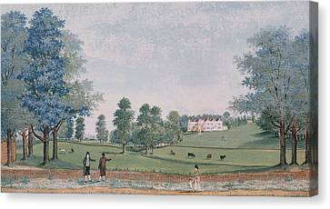 The Great House And Park At Chawton Canvas Print by Adam Callander