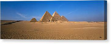 The Great Pyramids Giza Egypt Canvas Print by Panoramic Images