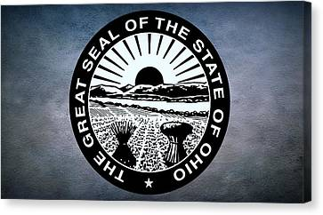 The Great Seal Of The State Of Ohio  Canvas Print by Movie Poster Prints