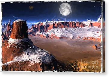 The Great Southwest Digital Painting. Canvas Print by Heinz G Mielke
