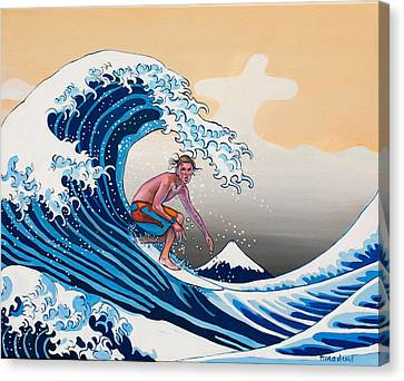 The Great Wave Amadeus Series Canvas Print by Dominique Amendola