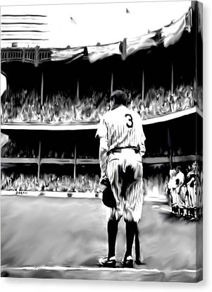 The Greatest Of All  Babe Ruth Canvas Print by Iconic Images Art Gallery David Pucciarelli