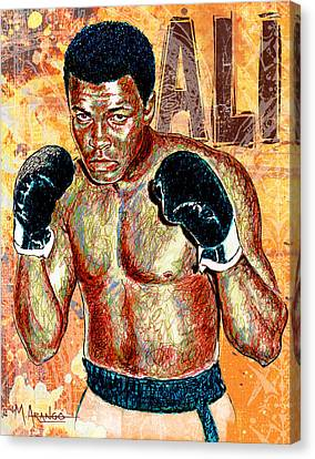 The Greatest Of All Time Canvas Print by Maria Arango