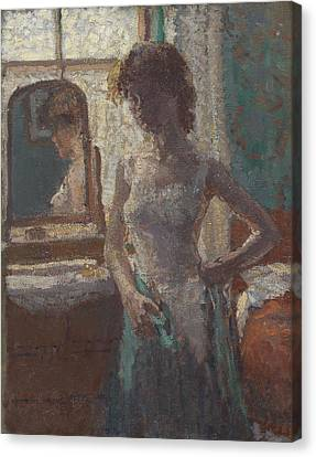 The Green Dress, 1908-09 Canvas Print by Spencer Frederick Gore