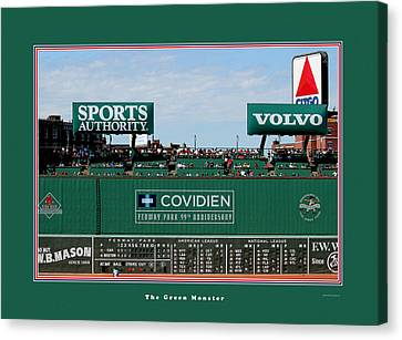 The Green Monster Fenway Park Canvas Print by Tom Prendergast