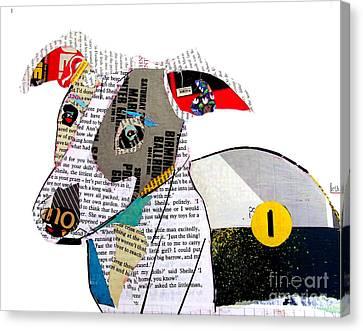 The Greyhound Canvas Print by Bri B