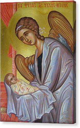 The Guardian Angel Soul Canvas Print by Olga Krasanaki